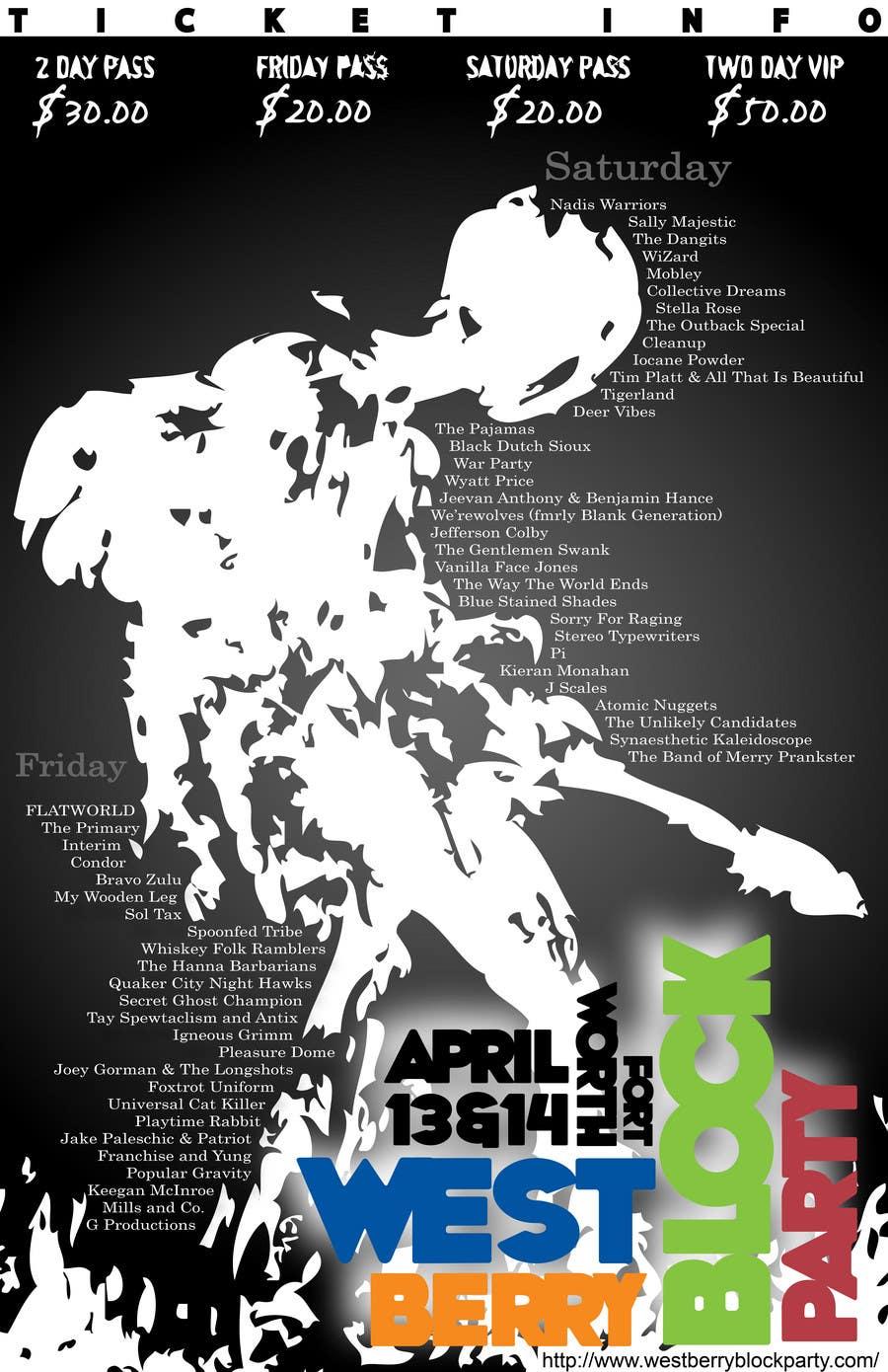 Конкурсная заявка №35 для Poster Design for 2 Day Music Festival