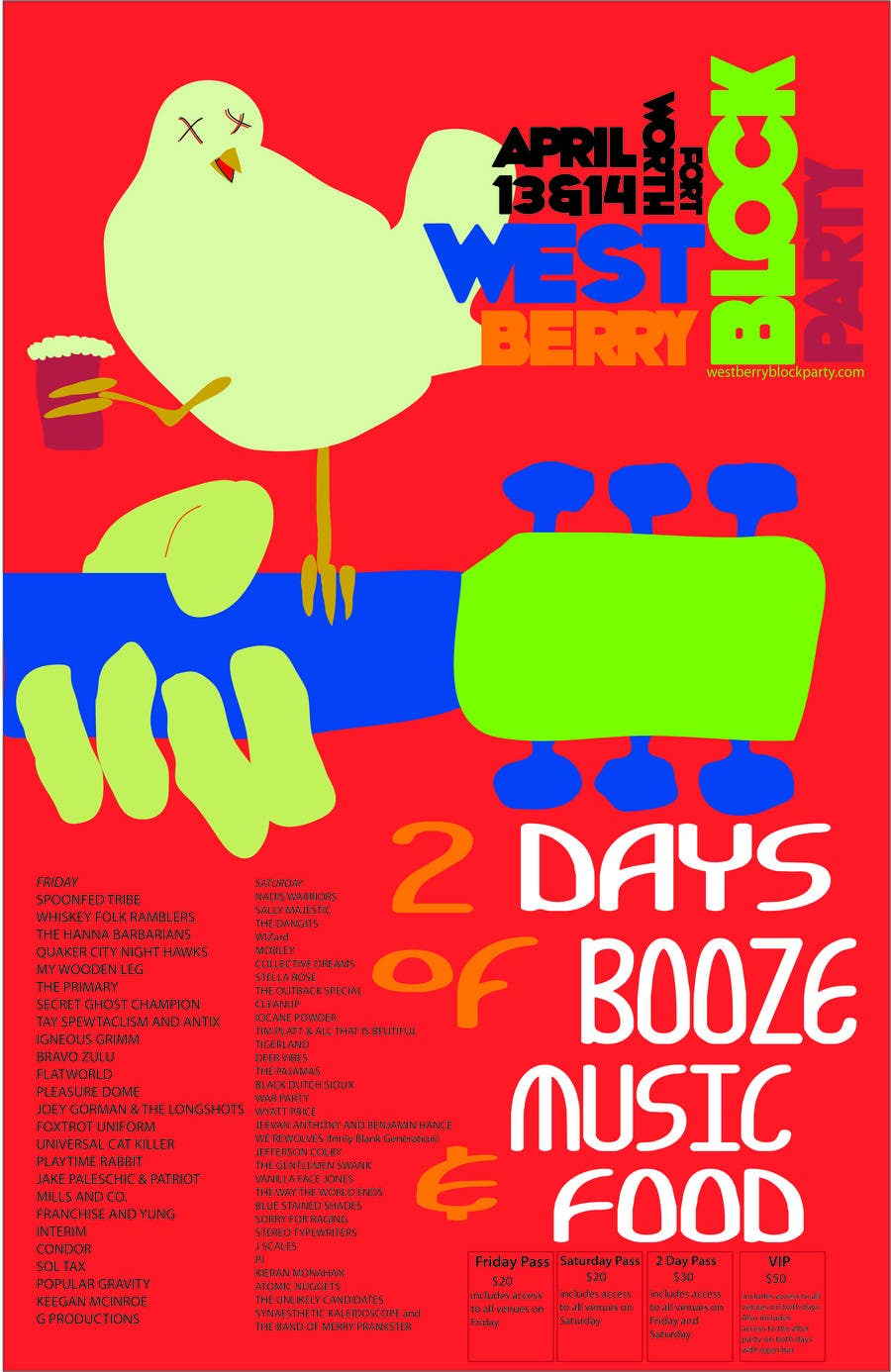 Proposition n°                                        21                                      du concours                                         Poster Design for 2 Day Music Festival