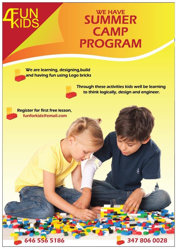 Konkurrenceindlæg #12 for Design a Flyer for Kids club