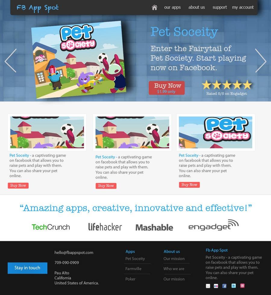 Kilpailutyö #                                        7                                      kilpailussa                                         Wordpress Theme Design for FB App Spot