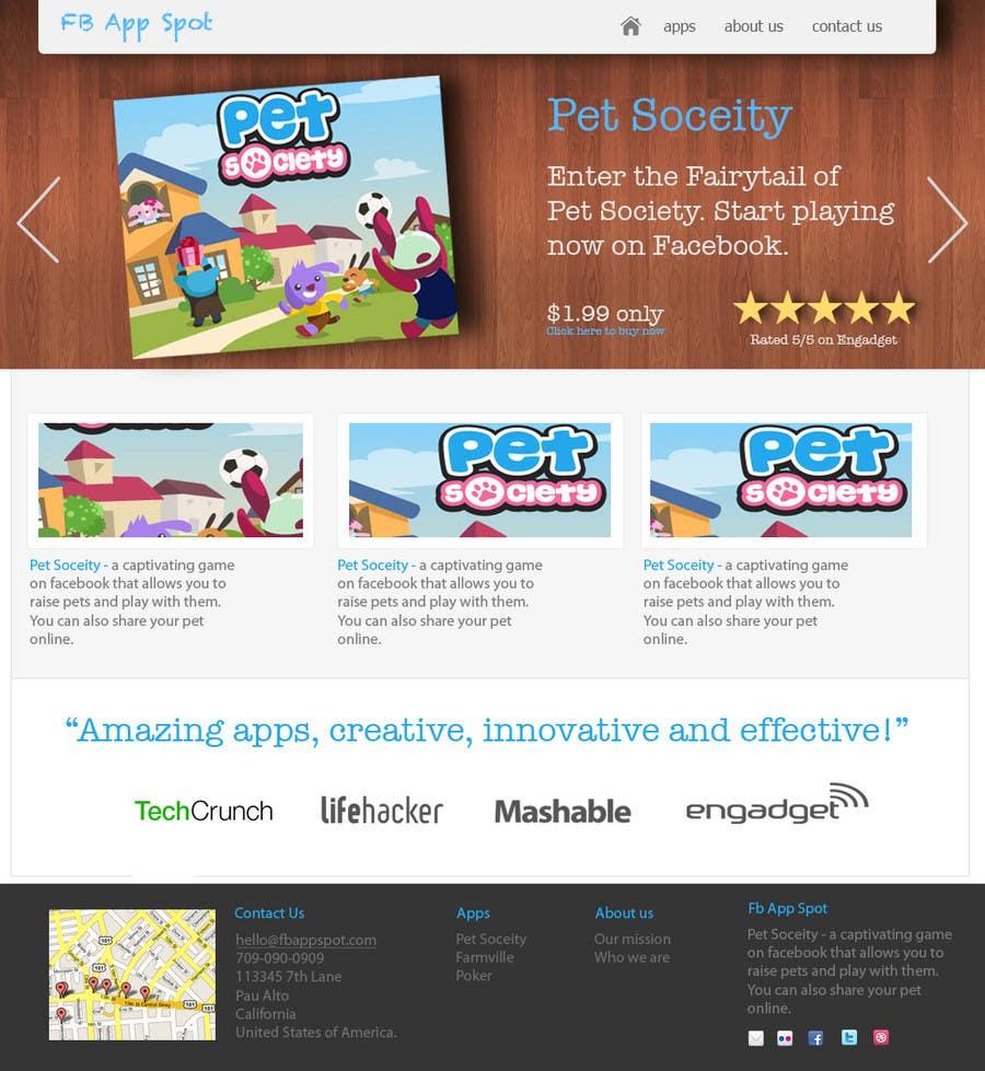 Kilpailutyö #                                        1                                      kilpailussa                                         Wordpress Theme Design for FB App Spot