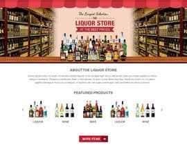 rupradeep tarafından Design a Website Mockup For A Liquor Store için no 6