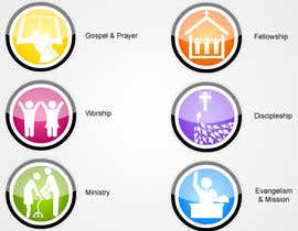 samuelgideon tarafından Eye-catching graphic logo + 5 clear icons for our church group için no 45