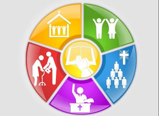 Конкурсная заявка №60 для Eye-catching graphic logo + 5 clear icons for our church group