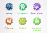 Graphic Design Inscrição do Concurso Nº51 para Eye-catching graphic logo + 5 clear icons for our church group