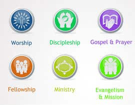 #51 for Eye-catching graphic logo + 5 clear icons for our church group by Anamh