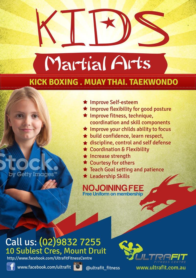 Kilpailutyö #13 kilpailussa Design a Flyer for Kids Martial Arts Classes