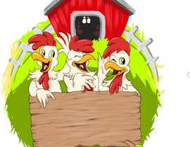 #42 untuk NEED SPUNKY CARTOON-LIKE CHICKENS FOR LOGO DESIGN oleh momotaros