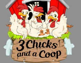 #114 untuk NEED SPUNKY CARTOON-LIKE CHICKENS FOR LOGO DESIGN oleh momotaros