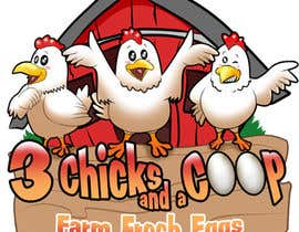 #94 cho NEED SPUNKY CARTOON-LIKE CHICKENS FOR LOGO DESIGN bởi Othello1