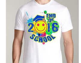 Nro 26 kilpailuun T-shirt design for end of year school käyttäjältä jojohf