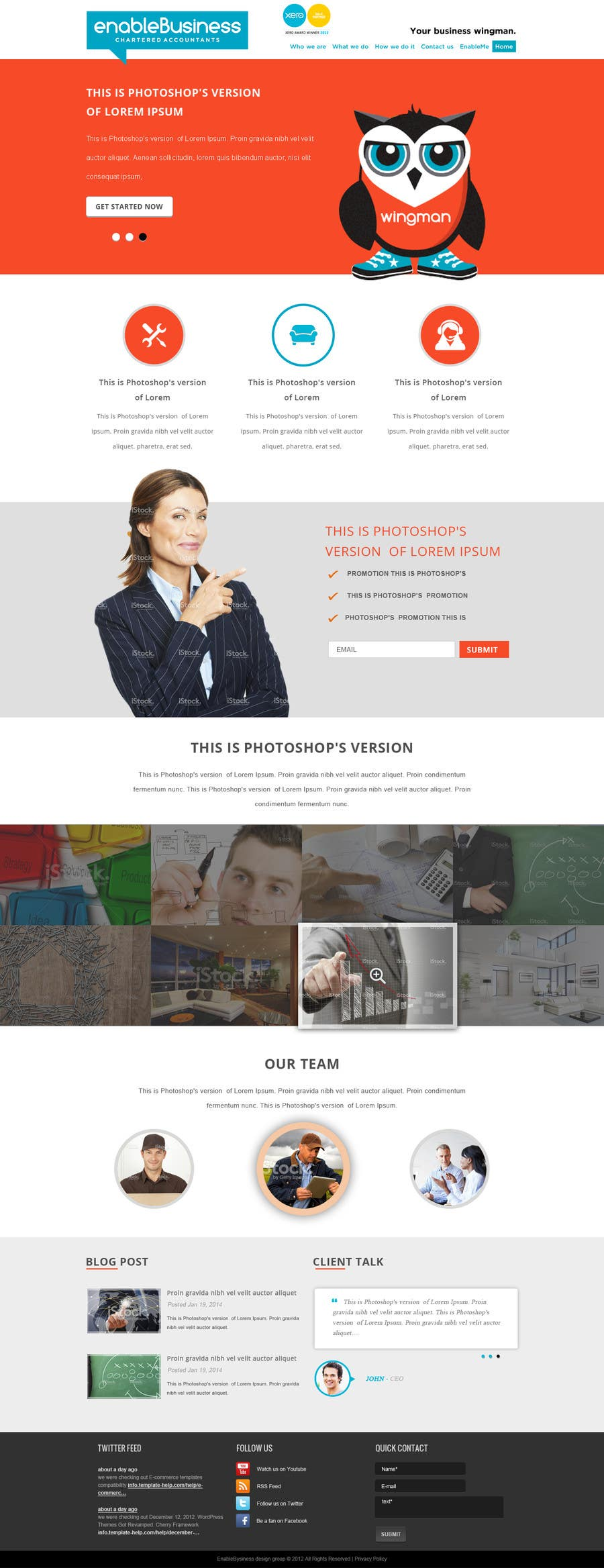#35 for Design a Website home page and our people page Mockup by phamtech211