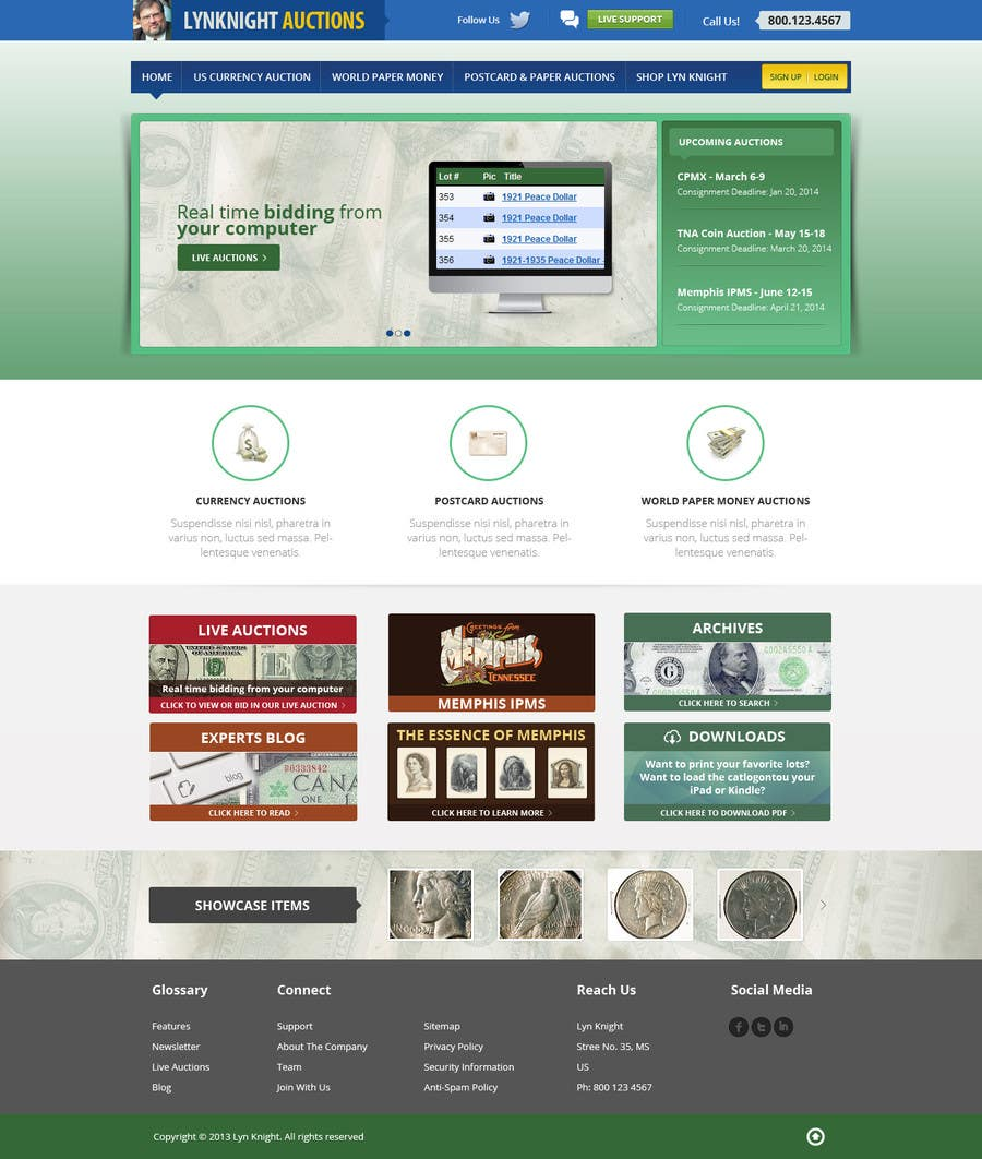 Konkurrenceindlæg #50 for Redesign an Existing Website for a Currency Auction & Store