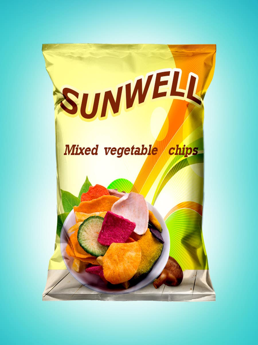 "Kilpailutyö #16 kilpailussa Create Print and Packaging Designs for Health snack ""Veggie and Fruit chip """