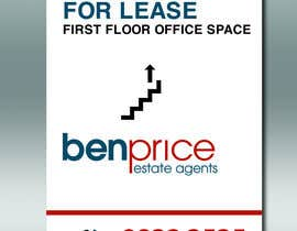 Nro 9 kilpailuun Design a for lease sign käyttäjältä DungDG