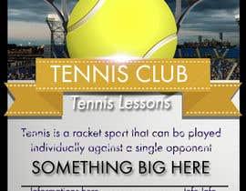 Nro 2 kilpailuun Need an eye carching Tennis Coaching Lesson Flyer käyttäjältä aminetagui