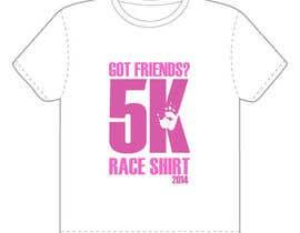 "#2 para 2014 Lillie's Friends ""Got Friends?"" 5K Race Shirt Design por issamelyazidi"