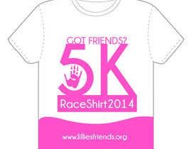 "#11 para 2014 Lillie's Friends ""Got Friends?"" 5K Race Shirt Design por issamelyazidi"