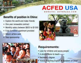 "Nro 25 kilpailuun Design a Flyer: ""Adventure Awaits - Teach English in China"" käyttäjältä authenticweb"