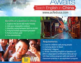 "nº 43 pour Design a Flyer: ""Adventure Awaits - Teach English in China"" par mediatronics"