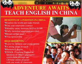 "nº 56 pour Design a Flyer: ""Adventure Awaits - Teach English in China"" par amcgabeykoon"