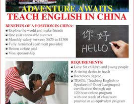 "nº 58 pour Design a Flyer: ""Adventure Awaits - Teach English in China"" par amcgabeykoon"