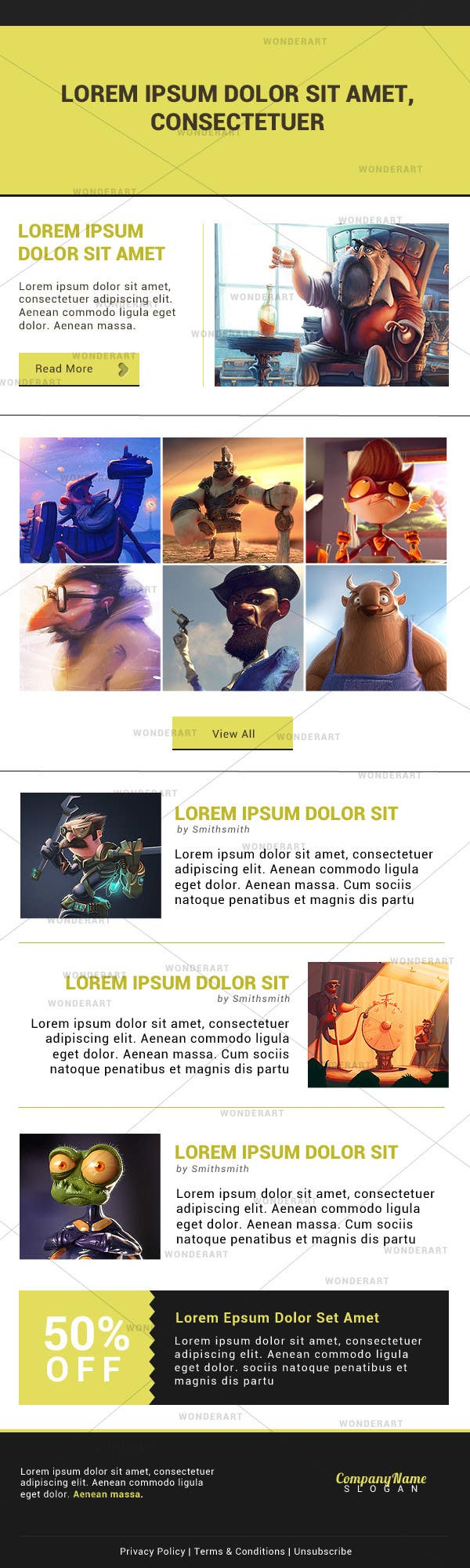 #1 for Email Template & Design by wonderart