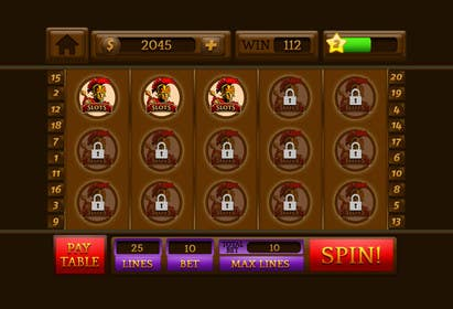 #25 for Design an App Mockup for a Slots App by sharpBD