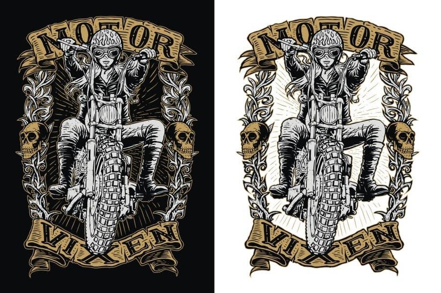 Penyertaan Peraduan #136 untuk AMAZING Tshirt Art Needed for Motorcycle Apparel Company