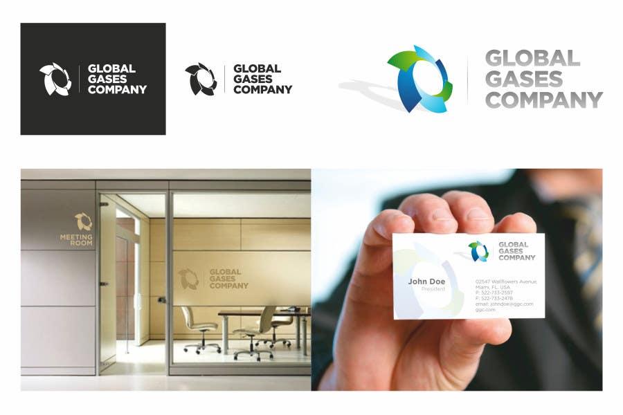 Penyertaan Peraduan #                                        133                                      untuk                                         Logo Design for Global Gases Company
