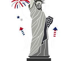 Nro 59 kilpailuun Create July 4th Themed Vector Art käyttäjältä hkesolutions