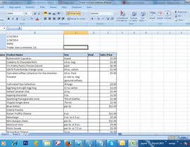 #3 para Enter data from store flyers in a spreadsheet por jp26198926
