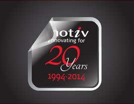 #76 para Design a Logo for 20th Anniversary of Motiv por dirak696