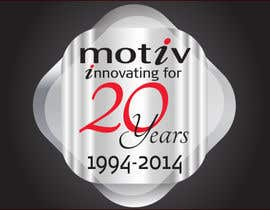 #89 for Design a Logo for 20th Anniversary of Motiv by dirak696