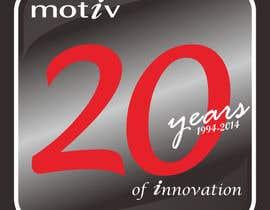nº 92 pour Design a Logo for 20th Anniversary of Motiv par MasTashim