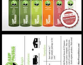 nº 4 pour Design a Flyer for Cold Pressed Juice par tanav