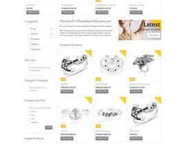 Nro 78 kilpailuun Design the fashion jewelry website mockup käyttäjältä SPYDERTECH