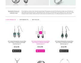 Nro 20 kilpailuun Design the fashion jewelry website mockup käyttäjältä tarana1