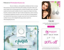 Nro 6 kilpailuun Design the fashion jewelry website mockup käyttäjältä chiqueylim