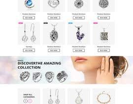 Nro 15 kilpailuun Design the fashion jewelry website mockup käyttäjältä davidnalson
