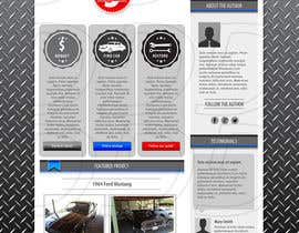 ntandodlodlo tarafından Design a Website Mockup for Classic Car Restoration Site. Layout provided. Just need your magical touches. için no 6
