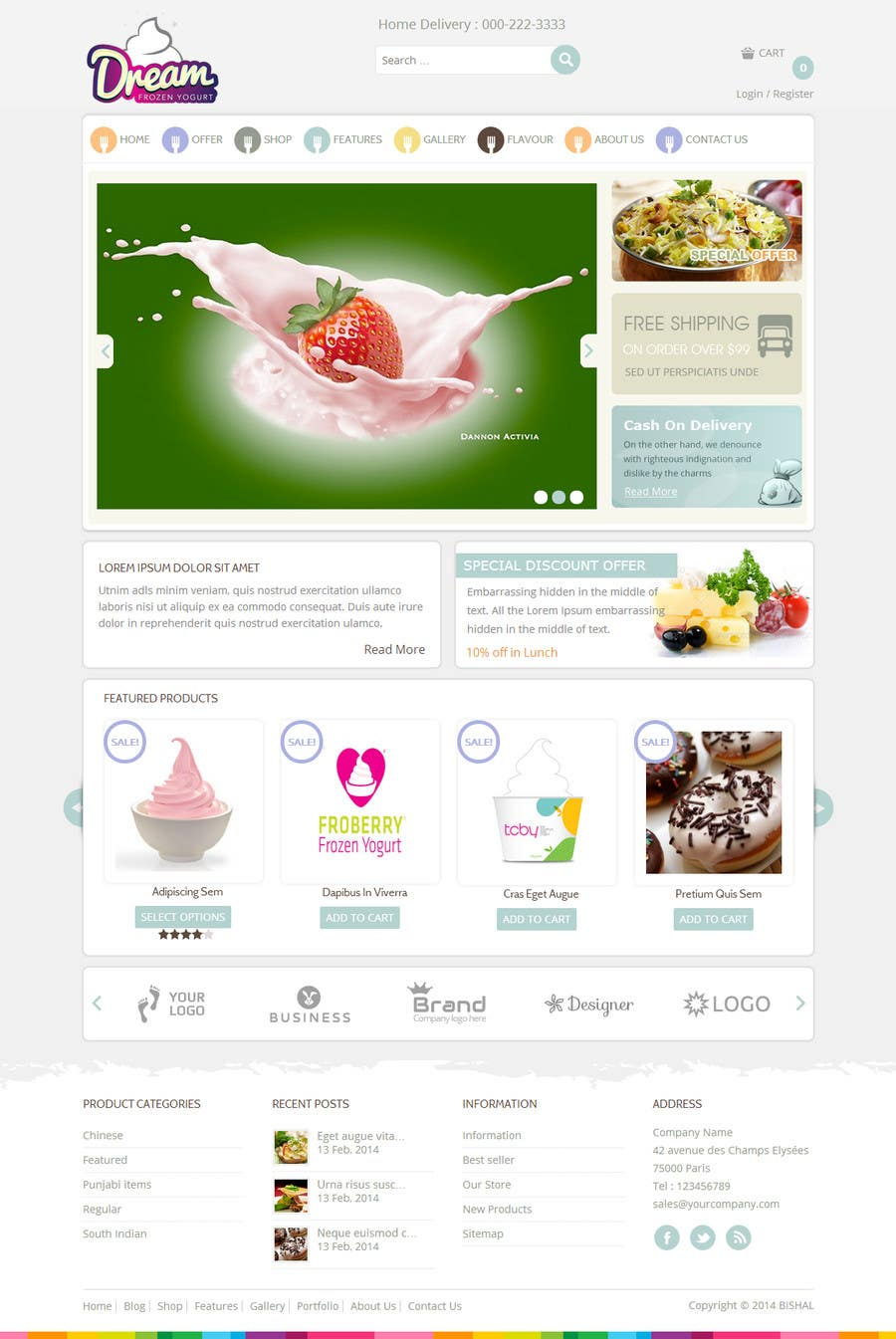 #14 for Yogurt website Home page by bsalsth