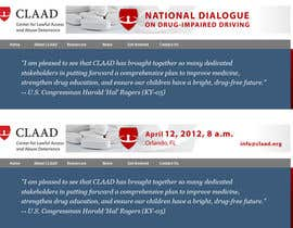 #35 untuk Banner Ad Design for Center for Lawful Access and Abuse Deterrence (CLAAD) oleh ivanbogdanov