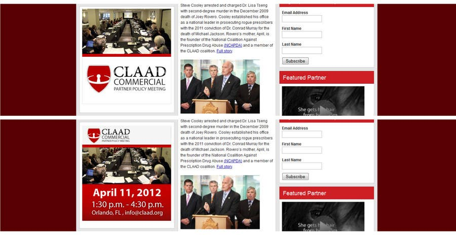 Конкурсная заявка №33 для Banner Ad Design for Center for Lawful Access and Abuse Deterrence (CLAAD)