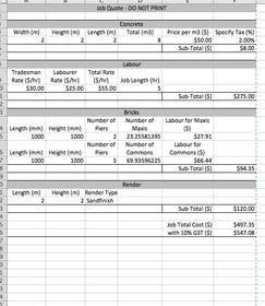 #39 for Do some Excel Work for KTBEL Construction by jrd571