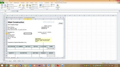 #5 for Do some Excel Work for KTBEL Construction by cobusduvenhage