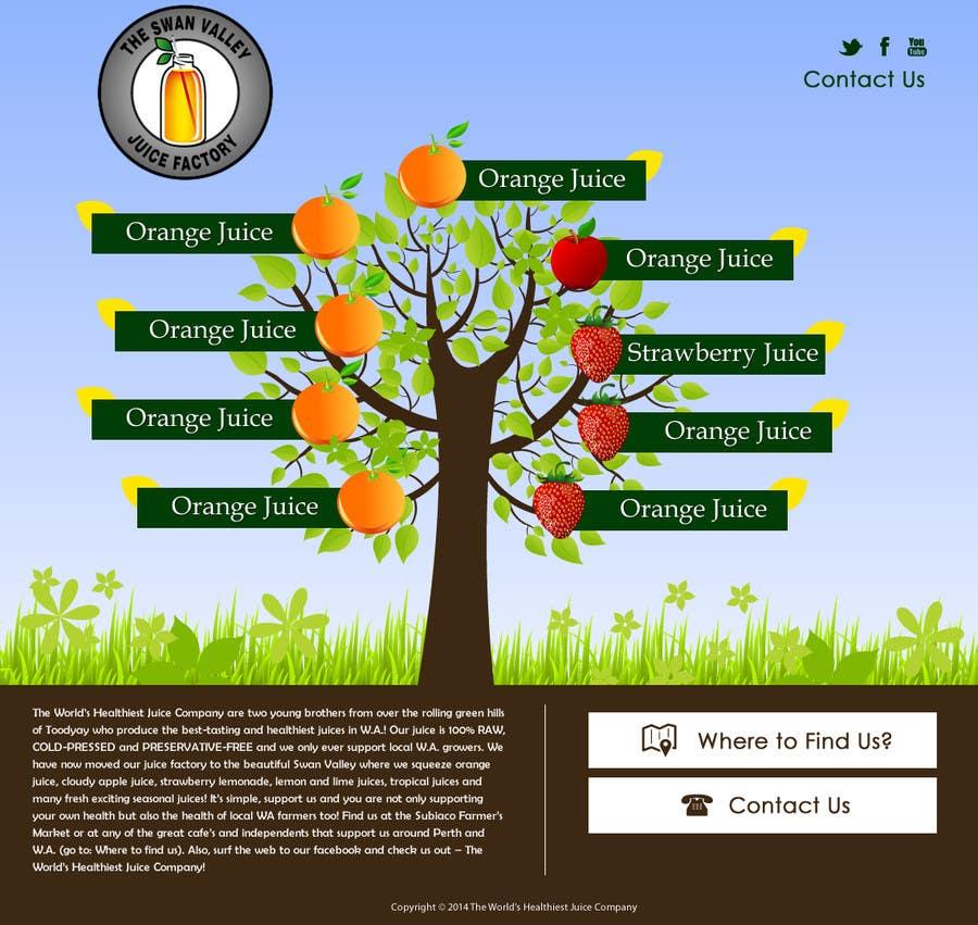 Bài tham dự cuộc thi #13 cho Build a Website for Juice Company
