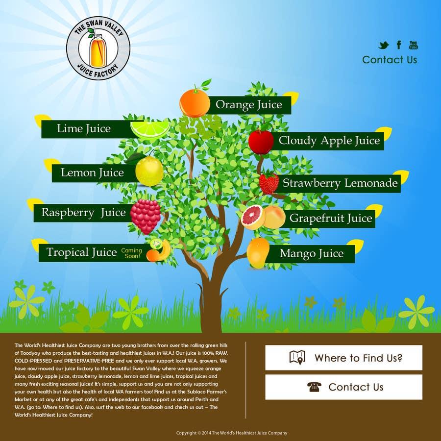 Bài tham dự cuộc thi #14 cho Build a Website for Juice Company