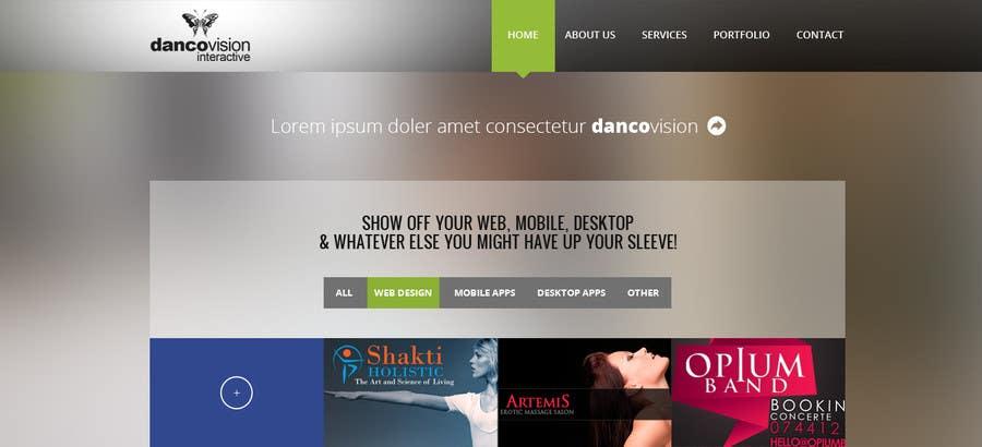 Design a Website Mockup for a Web Design Agency için 2 numaralı Yarışma Girdisi