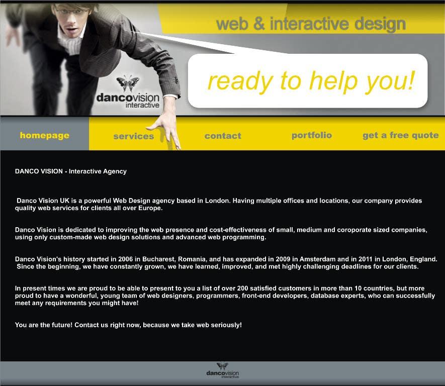 Design a Website Mockup for a Web Design Agency için 6 numaralı Yarışma Girdisi